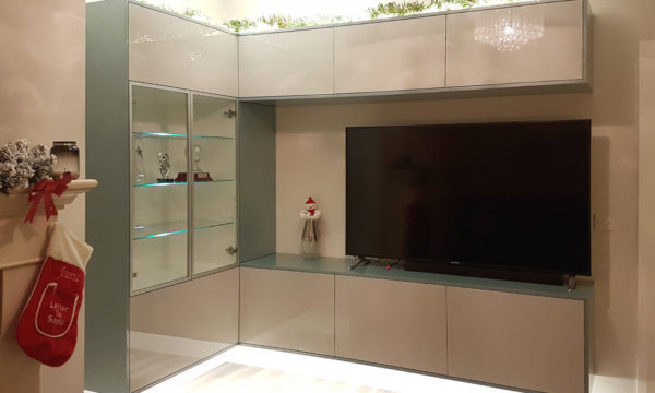 Zurfiz Acrylic TV Unit